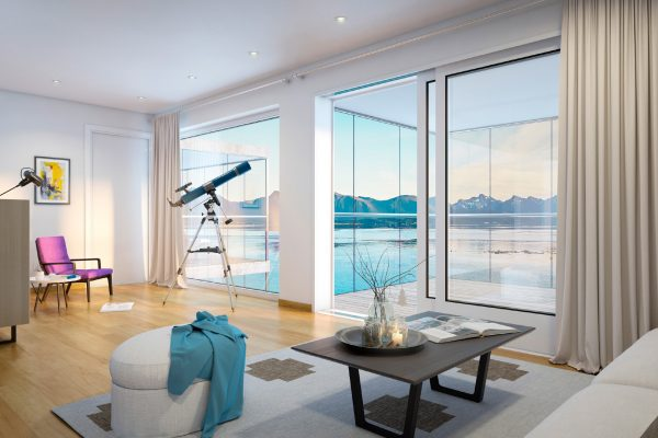 Kjempenhoy-visualiering stue utsikt mot hav